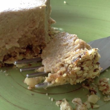 Vegan Hazelnut Espresso Cheesecake